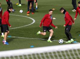En el entrenamiento no estuvieron presentes los jugadores convocados con sus países. EFE