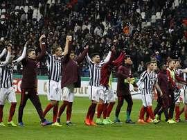 El Eintracht logró su pase ante un Arminia Bielefeld venido a menos. EFE