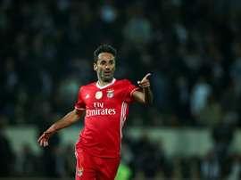 L'attaquant brésilien du Benfica Lisbonne Jonas. EFE