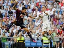 Real Madrid e Eibar defrontam-se este sábado para a LaLiga.EFE