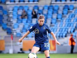 La francesa Camille Abily marcó dos goles. EFE/Archivo