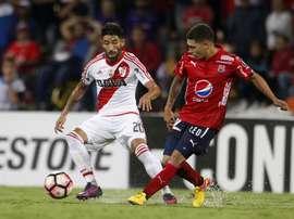El guardameta de Independiente Medellín lamentó la derrota frente a River. EFE