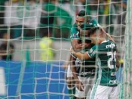 O Palmeiras precisou suar para se aproximar das semifinais do Campeonato Paulista. EFE