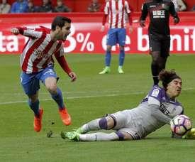 El Sporting conquistó tres puntos de oro. EFE