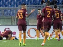 La Roma tuvo que remontar el tanto inicial del Sassuolo. EFE/EPA