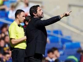 El técnico del Espanyol ha hecho cambios en su convocatoria. EFE