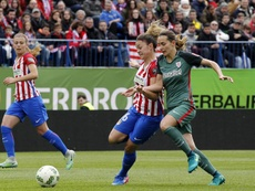 Sonia Bermúdez logró el empate a tres minutos del final. EFE