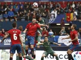 L'Athletic n'a pas laissé d'espoir à Osasuna. EFE