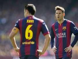 Gigantes do vestiário do Barcelona convidaram Xavi Hernández. EFE/Arquivo