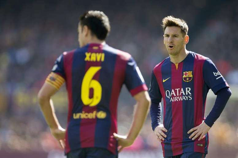 Xavi Hernández elogiou Leo Messi. EFE