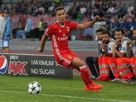 Grimaldo signed for Benfica from Barcelona in January 2016. EFE/Archivo