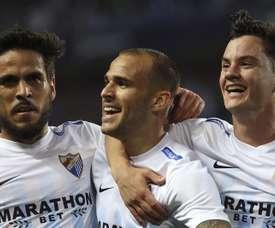 O Málaga não deu qualquer hipótese ao Celta nesta ronda da LaLiga. EFE