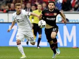 Vitória tranquila do Bayer Leverkusen sobre o Hamburger. EFE/EPA