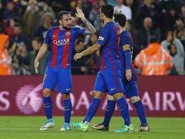 Mais um teste de pré temporada para o Barça. EFE