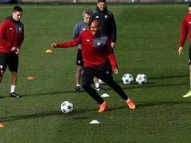 Les joueurs du FC Séville lors d'un entraînement. EFE