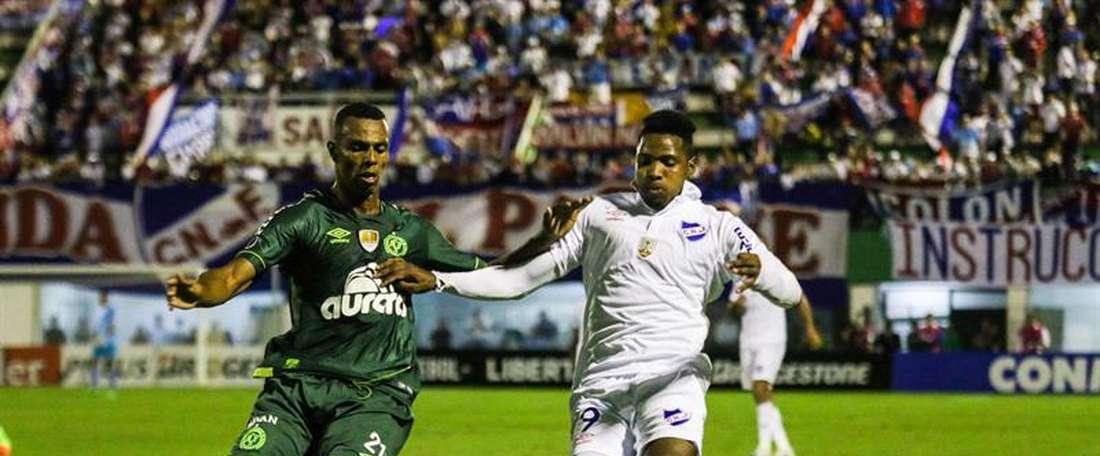 A Chapecoense segue sem vencer em casa na Copa Libertadores. EFE