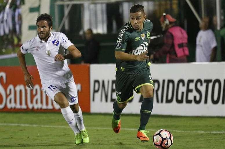 João Pedro, emprestado à Chapecoense pelo Palmeiras. EFE