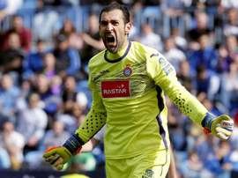 Le gardien de but de l'Espanyol Barcelone Diego Lopez. EFE
