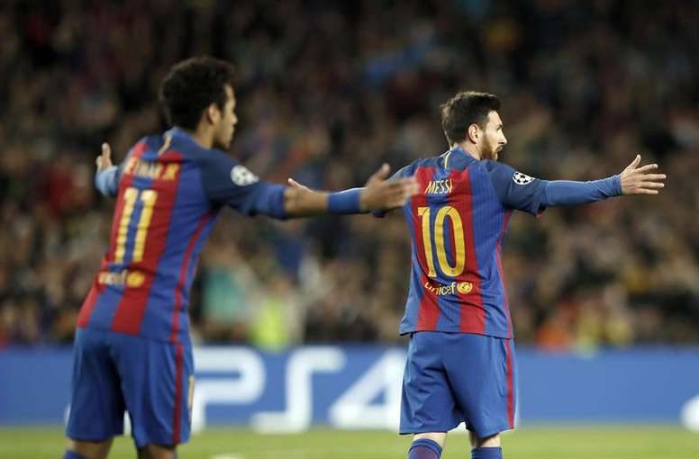 As palavras de Messi agradam Neymar. EFE
