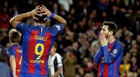Lionel Messi, Gerard Piqué e Sergio Busquets não foram relacionados. EFE