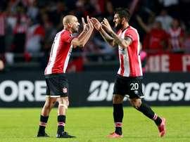 Reparto de puntos en el campeonato argentino. EFE