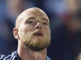 L'attaquant suédois du Celta de Vigo, John Guidetti. EFE