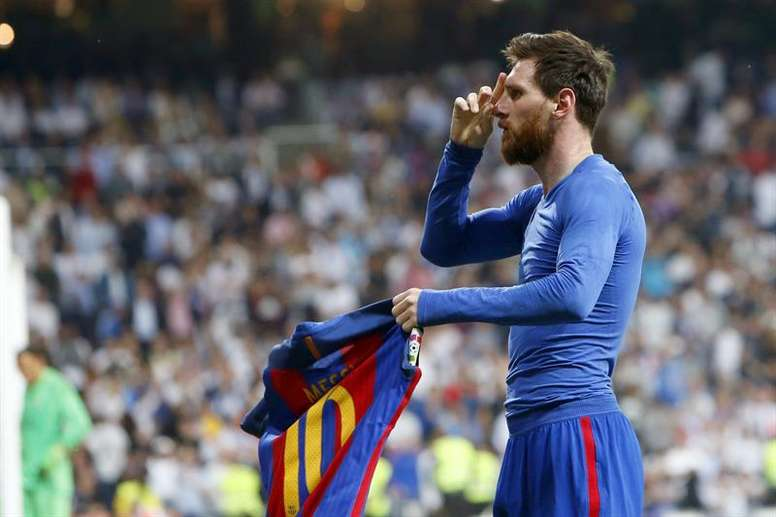 5e32369442f Pin  Messi500 breakdown  How Clasico winner took Messi to new heights. EFE