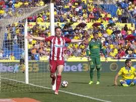 Atlético bateu o Las Palmas por 5-0. EFE