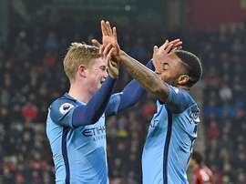 Rumours have been swirling around Sterling and De Bruyne. EFE