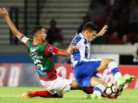 O, ainda, capitão do Marítimo deu indicações ao Braga sobre o companheiro Raúl Silva. EFE
