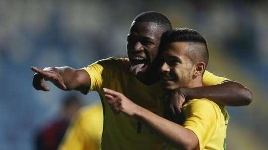 Vinicius destacó en el empate de Brasil. EFE/Archivo