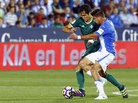 Leganés com permanência quase garantida após goleada por 4-0 sobre o Betis. EFE