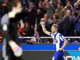 100 partidos con el Deportivo. EFE