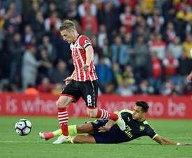 Davis cumple contrato con el Southampton en junio de 2019. EFE