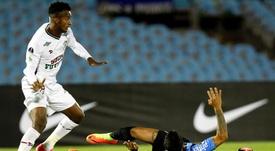 El conjunto uruguayo ganó el partido, pero no fue suficiente. EFE