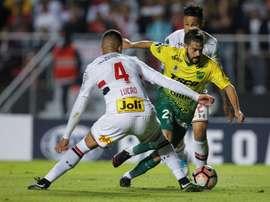 Agustin Bouzat, de Boca Juniors, jugó la temporada pasada cedido en Defensa y Justicia. EFE