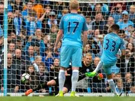 Triunfo muito importante para a turma de Guardiola na Premier League. EFE/EPA