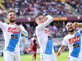 Napoli thrash Torino to move second. EFE/EPA