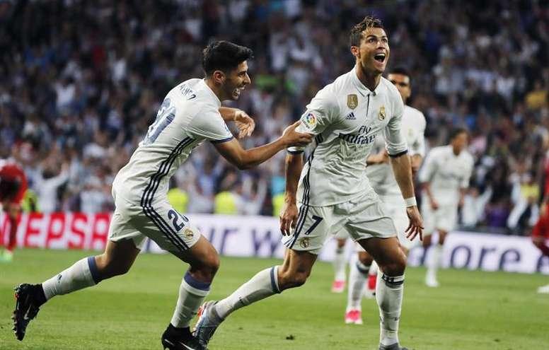 Le but somptueux de Cristiano Ronaldo contre le Betis. EFE