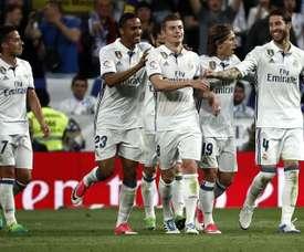 Cristiano Ronaldo marcou dois gols contra o Sevilla. EFE