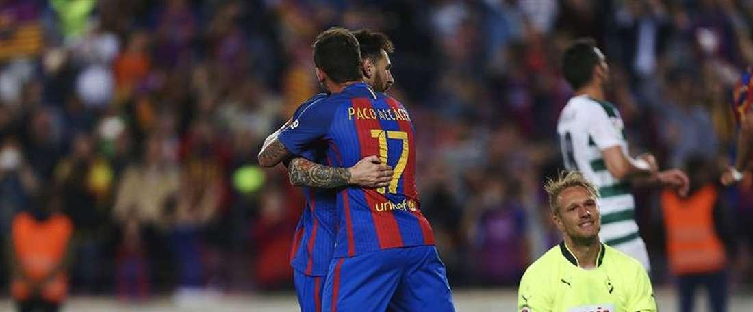 Barcelona beat Eibar at the Camp Nou. EFE