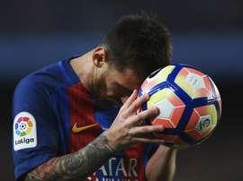 O 'Barça' bateu o Eibar no fecho do campeonato espanhol. EFE