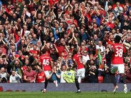 Le jeune Harrop espère un nouveau contrat avec Manchester United. EFE