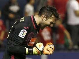Diego Lopez a permis la victoire de son équipe. EFE