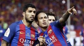 Luis Suárez habló sobre el futuro de Neymar. EFE