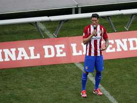 Torres will never forget his last game at the Vicente Calderón. EFE
