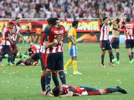 Chivas venceu a Liga MX depois de bater Tigres. EFE