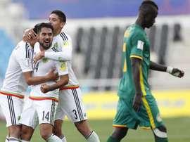 México se impuso a Senegal. EFE