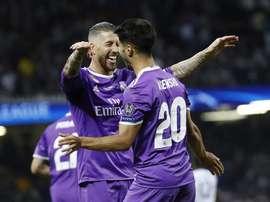 Ramos et Asensio ont participé à cette fameuse finale en 2017. EFE