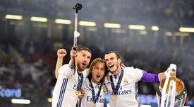 Ramos and Modric spoke about the pandemic. EFE